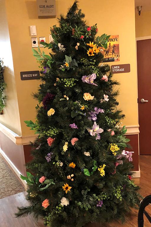 Columbine Manor Care Center's Easter tree in Salida, Colorado