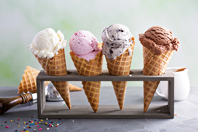Ice cream stock photo