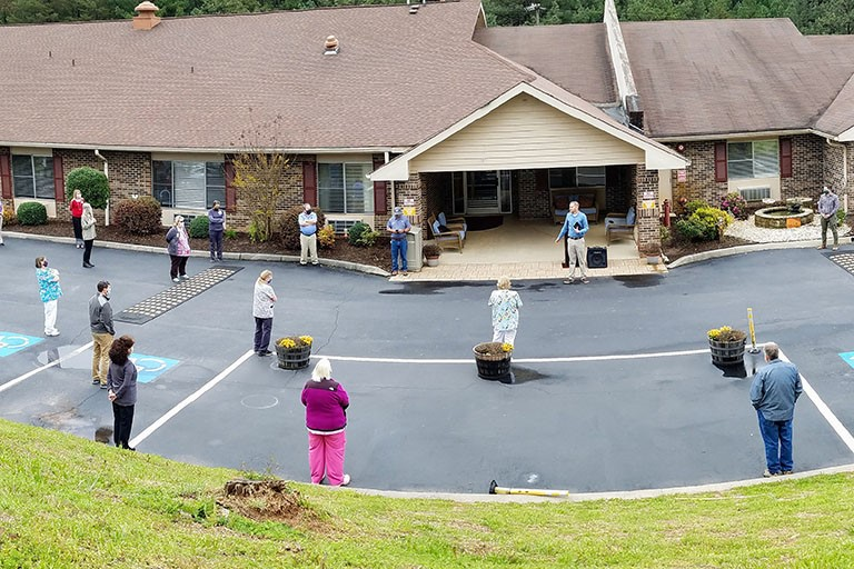 Life Care Center of Copper Basin's prayer group