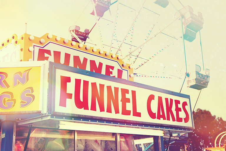 Funnel cakes stock photo