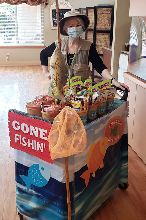 Fishing cart at Life Care Center of Kirkland