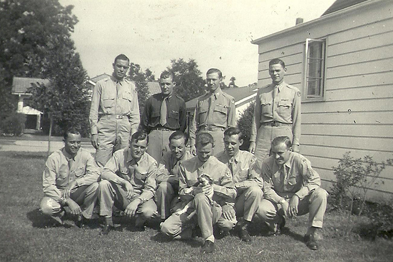 Jesse and his fellow servicemen