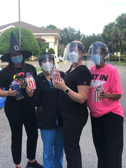 Associates at the Trunk or Treat at Life Care Center of Winter Haven