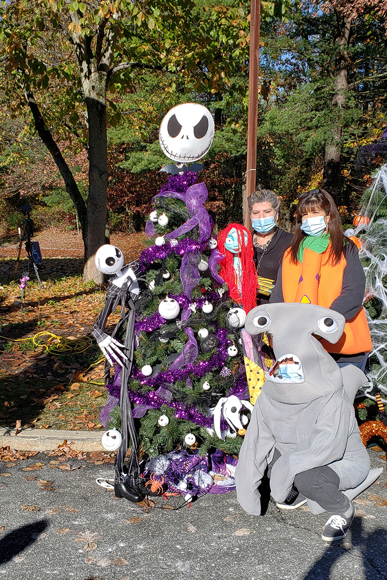 """The Nightmare Before Christmas"" tree at Life Care Center of Wilbraham"