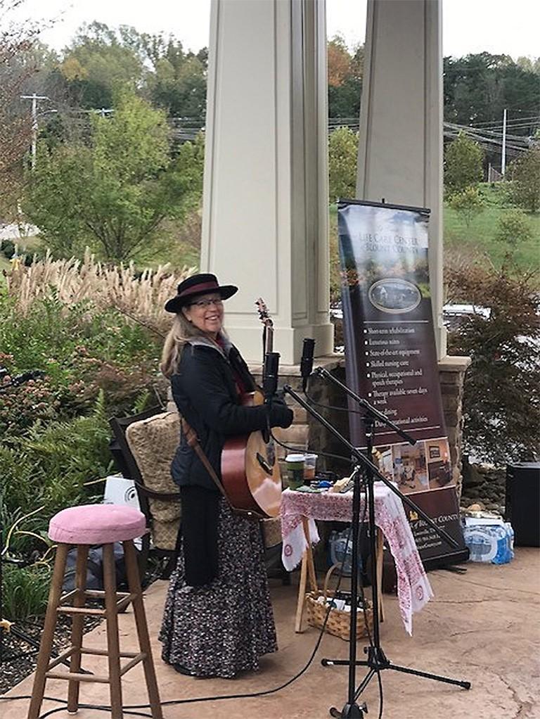 One of the bluegrass musicians