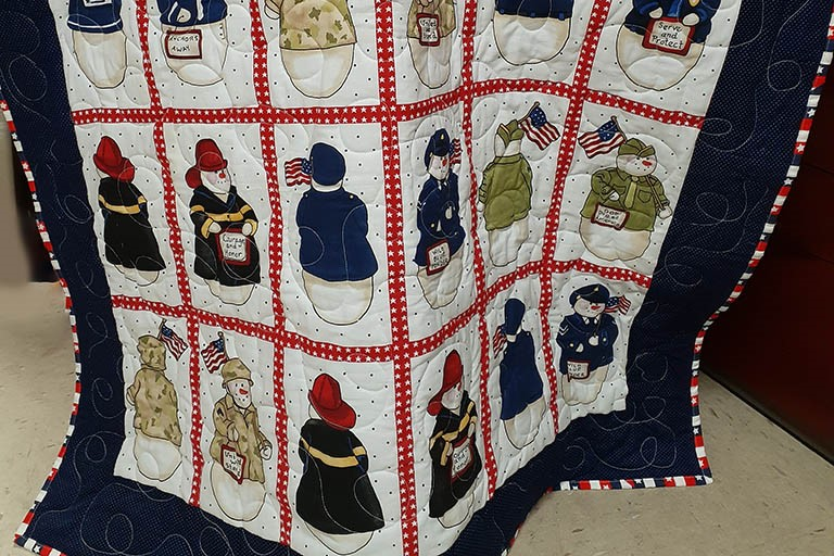 One of the patriotic quilts at Life Care Center of Kennewick