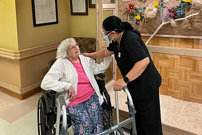 Olene with Iris Dayandante, director of rehab services