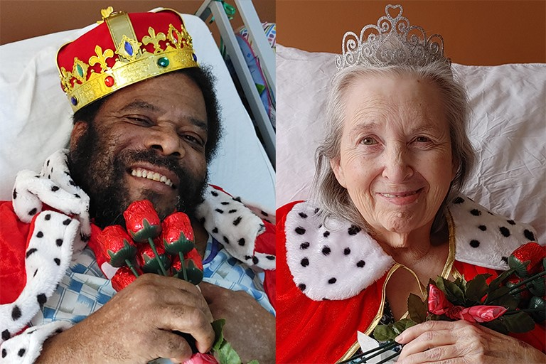 Howard Ross and Mary Stone, Valentine's Day King and Queen at Cape Girardeau