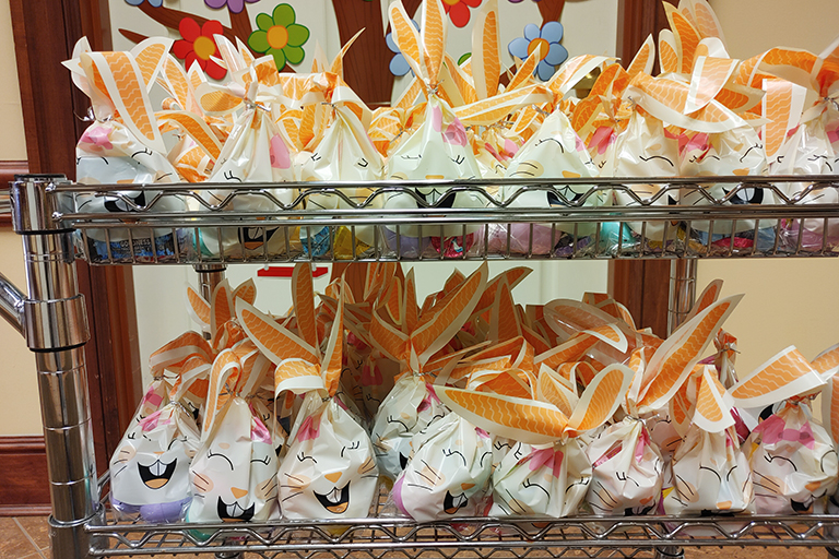 Gift bags at Life Care Center of Cape Girardeau