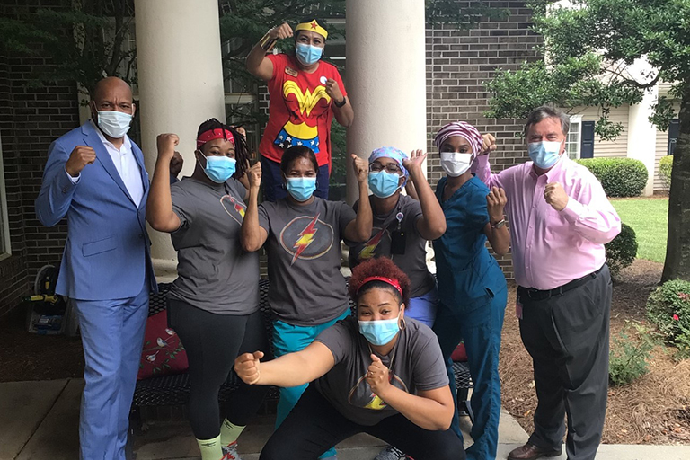 Lawrenceville CNAs and management associates showing their heroism