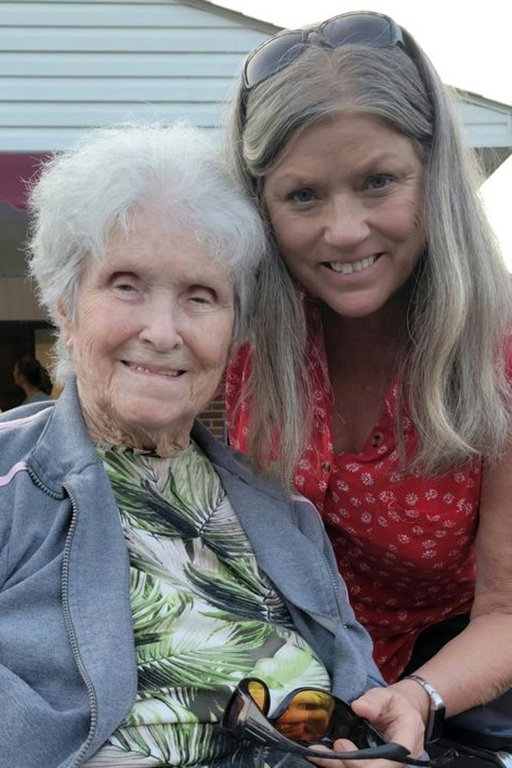Crossville resident Lucy Parrot with her daughter, Zondra Shmel