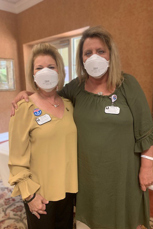 Susan McMillion, Central Division director of clinical services, left, with Stacy Cromer, Central Division vice president