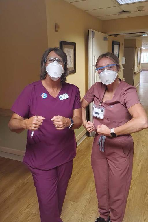 Pam Rawlinson, director of nursing, left; and Jennifer Fain, assistant director of nursing