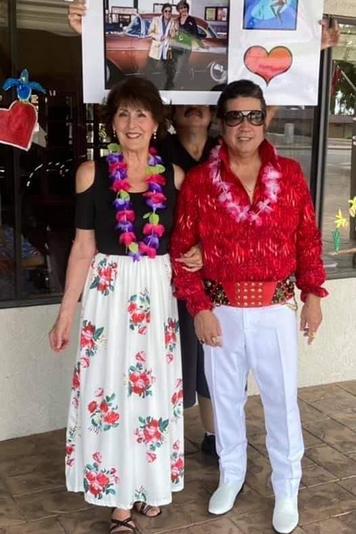 Elvis and Ann – aka entertainers Bernadette Tax and Paul Glaus