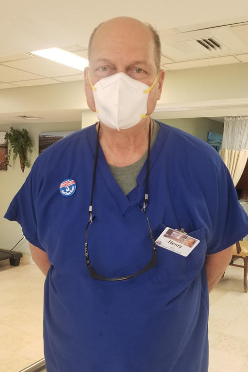 Henry Hotin, physical therapist, Life Care Center of Leominster, Massachusetts